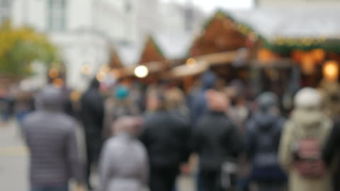 4k:christmas walking street in the central city on december - budapest stock videos & royalty-free footage