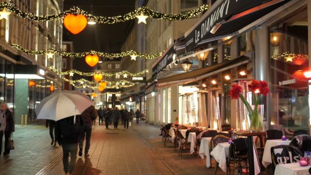 4K:Christmas walking street