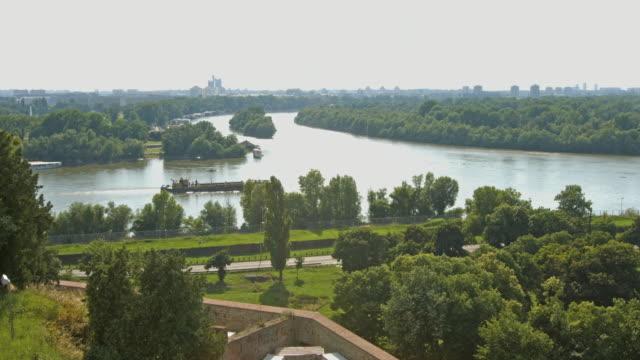 4k:crossroads of the sava and danube rivers; belgrade - senegal stock videos & royalty-free footage