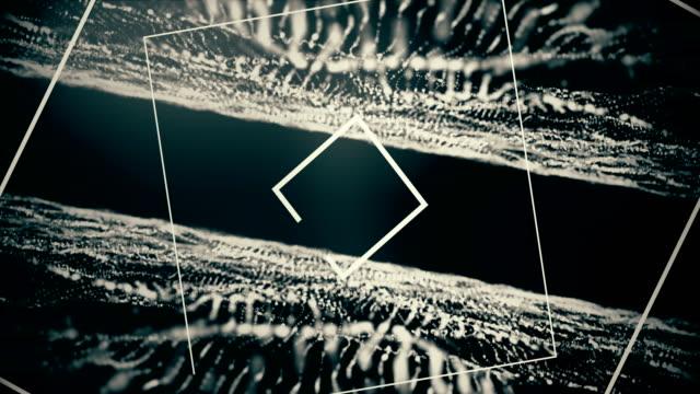 4K-Dark muziek golven achtergrond