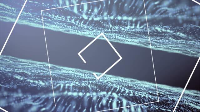4K-Deep Sea Blue Music waves Background