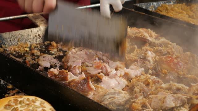 4k:fried pork german ready for eating - oktoberfest stock videos & royalty-free footage