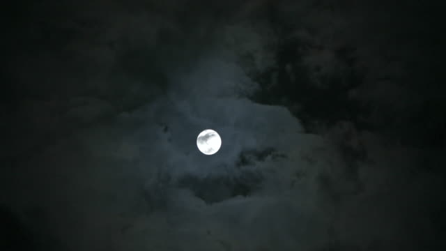 4k,full moon and clouds. - month stock videos & royalty-free footage