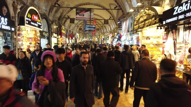 4k:grand bazaar in istanbul - grand bazaar istanbul stock videos and b-roll footage