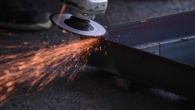 4k.grinding steel - geometric shape stock videos and b-roll footage