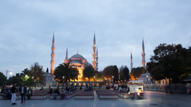 4k:istanbul blue mosque **time lapse** - blue mosque stock videos and b-roll footage