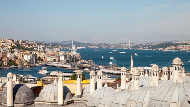 4 k :イスタンブール、トルコ**タイムラプス** - イスタンブール 金角湾点の映像素材/bロール