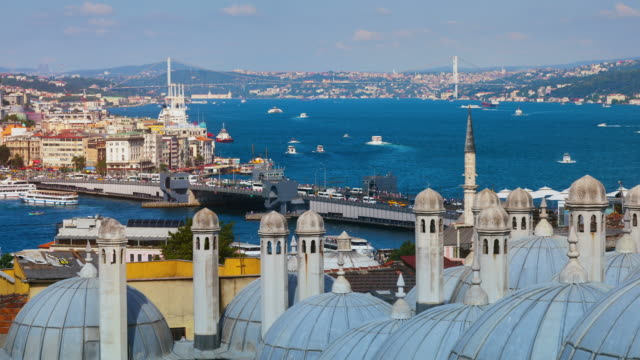 4k:istanbul, turkey **time lapse** - golden horn istanbul stock videos and b-roll footage