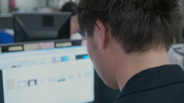 4k,japanese businessman using desktop in office. - desktop pc stock videos & royalty-free footage
