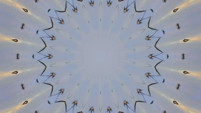 4k:kaleidoscope - circular strobe stock videos and b-roll footage