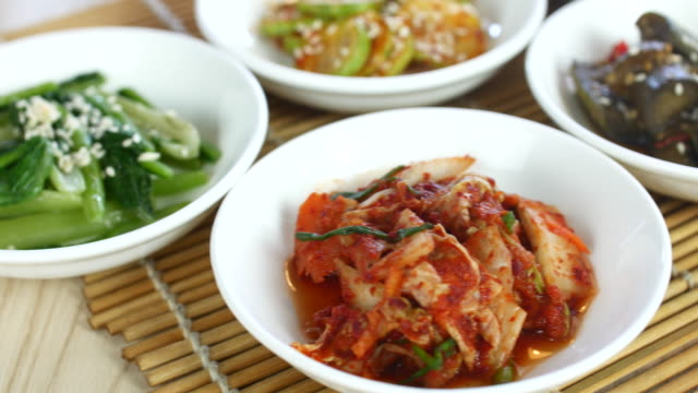 4K:Korean food side dishes,Dolly shot