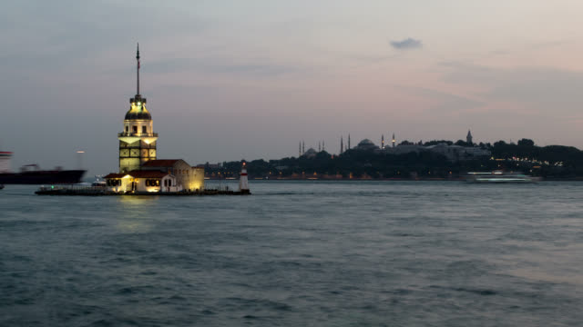 4k:maiden's tower. istanbul, turkey - sultanahmet district stock videos and b-roll footage