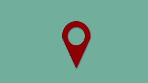 4 k: 地圖示記綠色螢幕陰影環紅色 - 方向 個影片檔及 b 捲影像