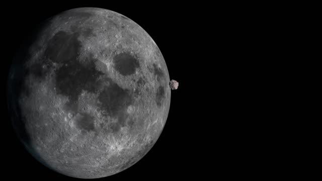 vídeos de stock e filmes b-roll de 4k:moon and meteorite - meteoro