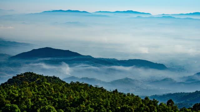 4 K :  Berglandschaft Himmel und Wolken-Hintergrund
