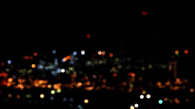 4K:Night city is defocused with nice bokeh