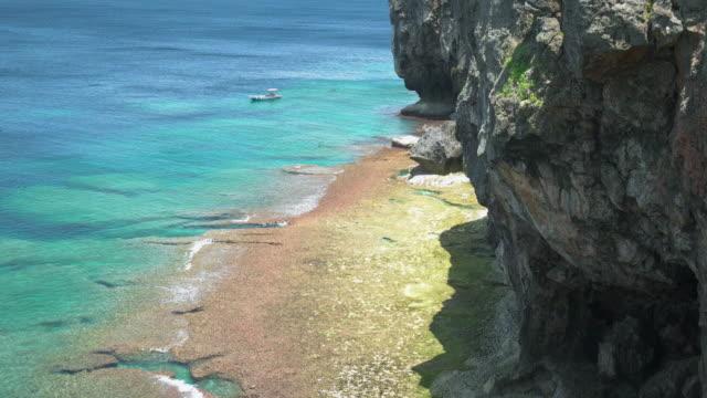 4K,Ocean and cliff.Okinawa,Japan