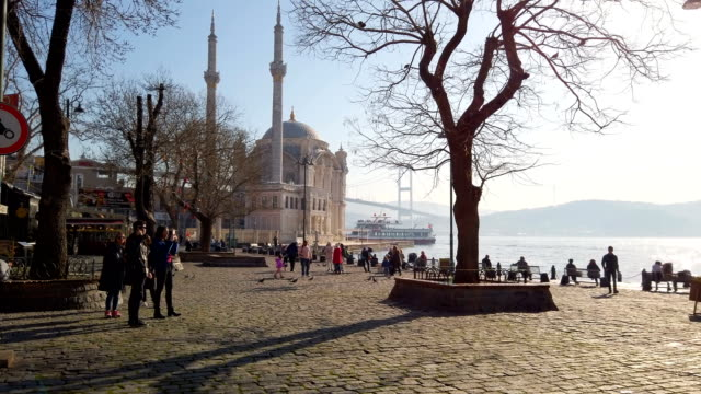 4k:ortakoy mosque, istanbul - ortakoy mosque stock videos and b-roll footage