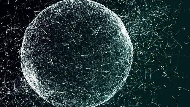 vidéos et rushes de fond du monde 4k-particle - nombre d'or