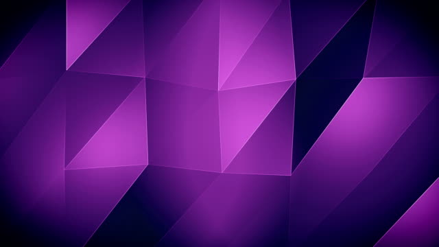 vídeos de stock e filmes b-roll de 4k-purple triangle waves background - modelação low poly