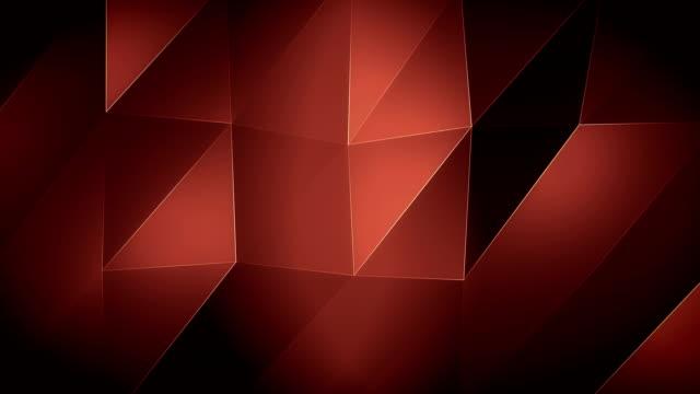vídeos de stock, filmes e b-roll de ondas de triagle 4k-red background - articulação facetária