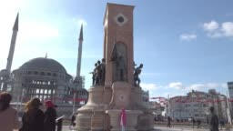 4K:Republic Monument Taksim Square Istanbul