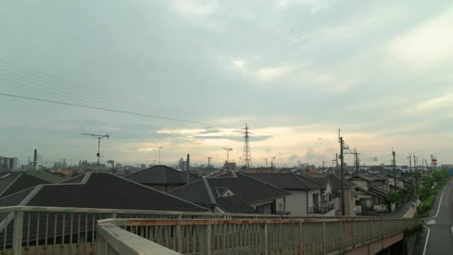 vídeos de stock, filmes e b-roll de compatível com dci 4 k, sky residence e área da manhã. kakogawa, hyogo, japão - vista da cidade