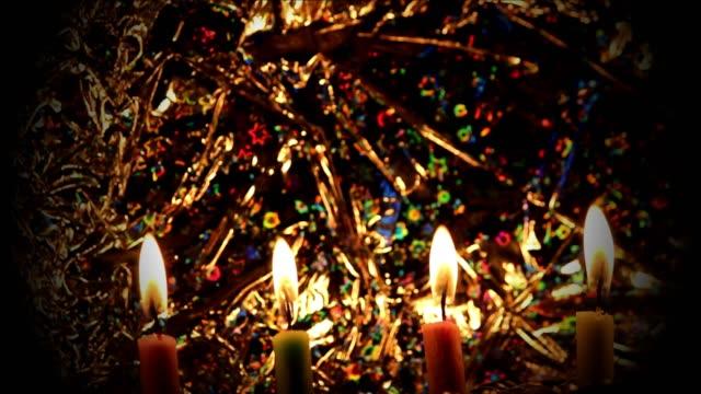 4k-resolutie: kaarsen branden