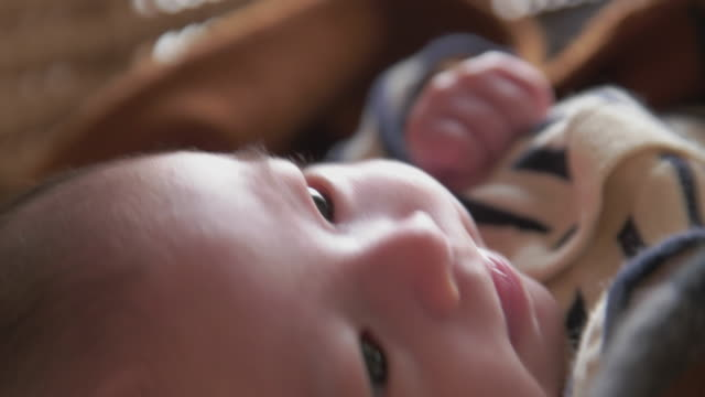 4K,Selective focuse, Japanese baby girl (2month).