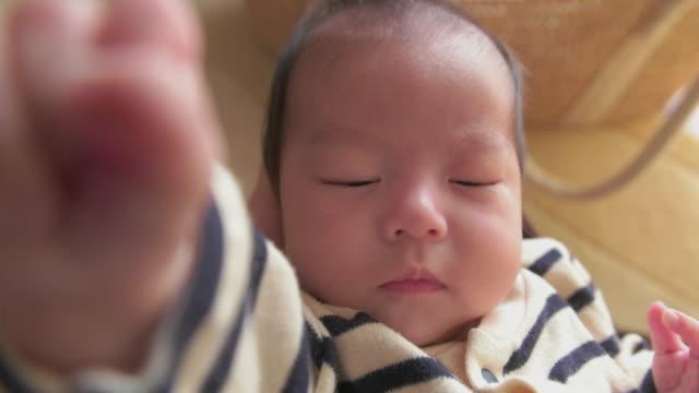 4K,Selective focuse,,Parent POV shot,Japanese baby girl (2month).