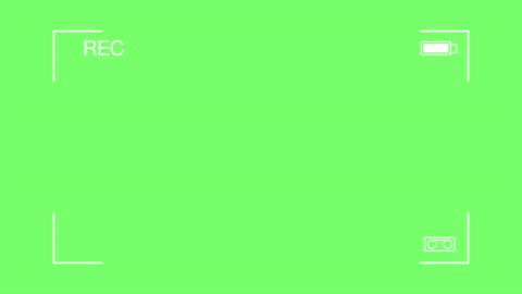 4k: enkel visning av video kamera på en grön skärm - övervakningskamera bildbanksvideor och videomaterial från bakom kulisserna