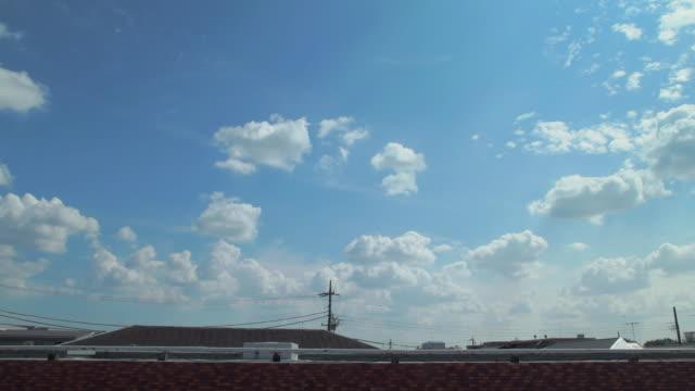 4k,sky over the roof. tokyo, japan - 屋根点の映像素材/bロール