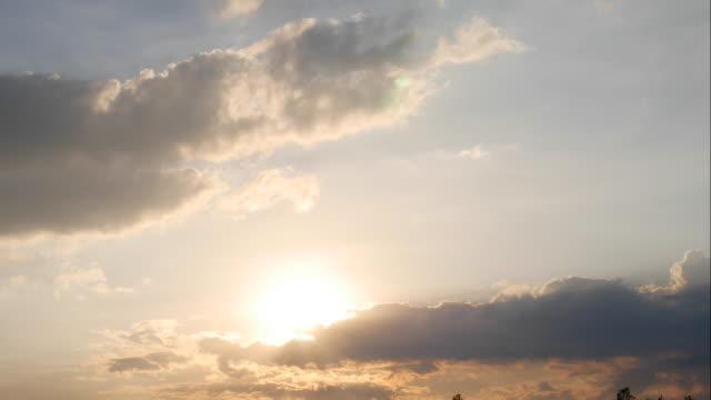 4K:Sunset clouds
