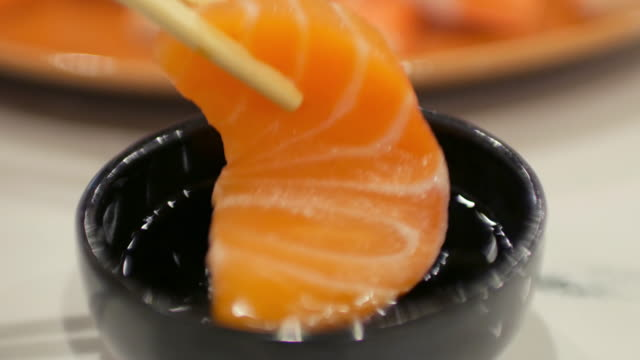 4k:sushi japanese food eating , uhd - toro fish stock videos and b-roll footage