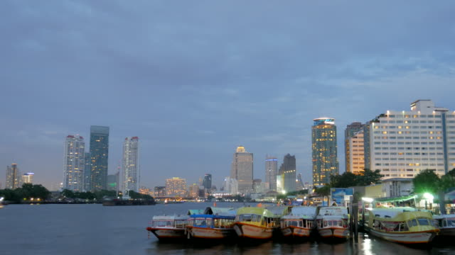 4k:time lapse of bangkok city and river - generic location stock videos & royalty-free footage