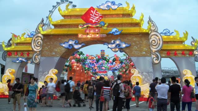 4k:time lapse:lantern festival,lunar new year cerebration. - vietnam stock videos & royalty-free footage