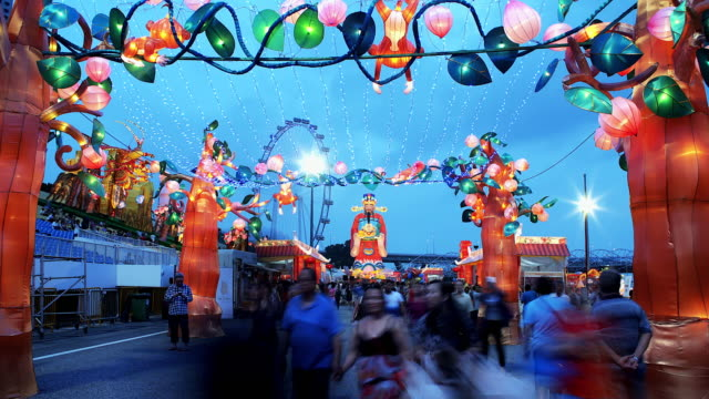 4k:time lapse:lantern festival,lunar new year cerebration. - chinese new year stock videos & royalty-free footage