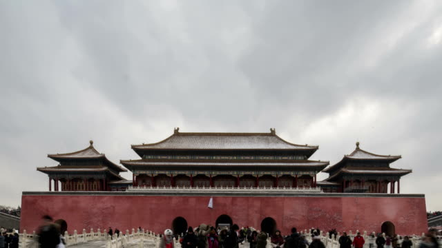 4k-time lapse-the forbidden city - beijing, china - tiananmen square stock videos and b-roll footage