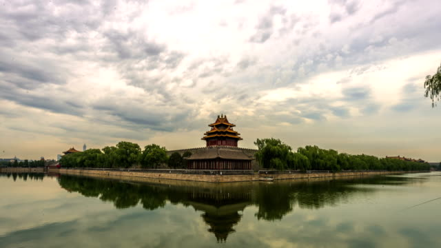 4k-time lapse-the forbidden city - beijing, china - royalty stock videos & royalty-free footage