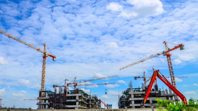 4K:Time-lapse of construction site building