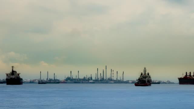 4K:Timelapse of Oil refinery - Industry plant