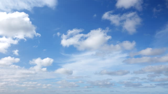 4k:timelapse of the clear sky - cloudscape stock videos & royalty-free footage