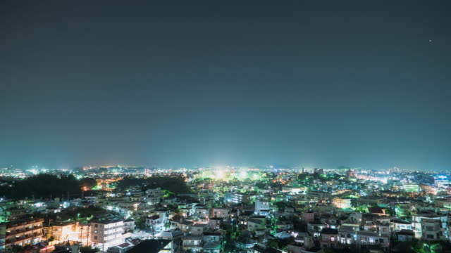 4K,Timelapse shot of city at night.