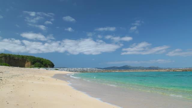 4k,view of beach.okinawa,japan - okinawa prefecture stock videos & royalty-free footage