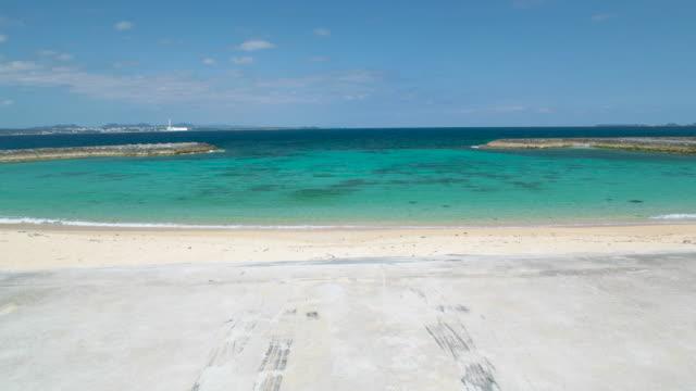 4K,View of beach.Okinawa,Japan
