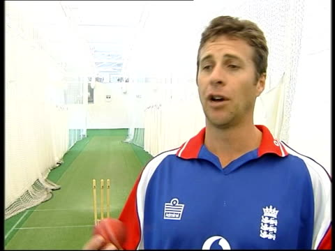 4th Ashes match preview Troy Cooley interviewed SOT Explains reverse swing bowling England bowler practicing bowling to batsman GV Trent Bridge PAN...