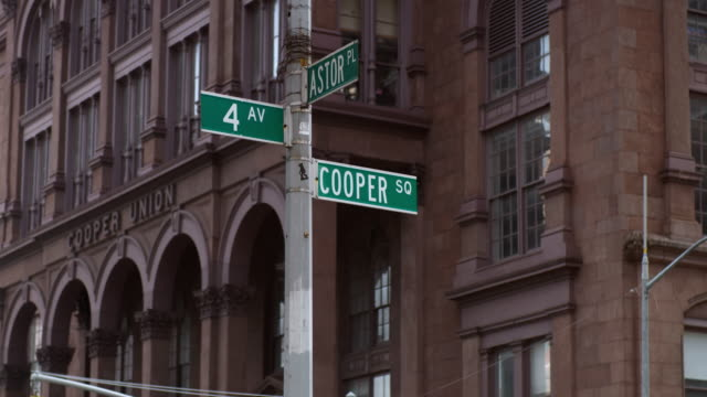4th, astor, and cooper signs - union square new york city stock videos and b-roll footage