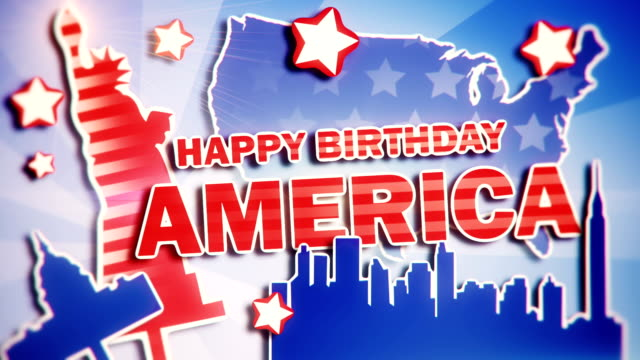 4th of july - happy birthday america - fourth of july stock videos & royalty-free footage