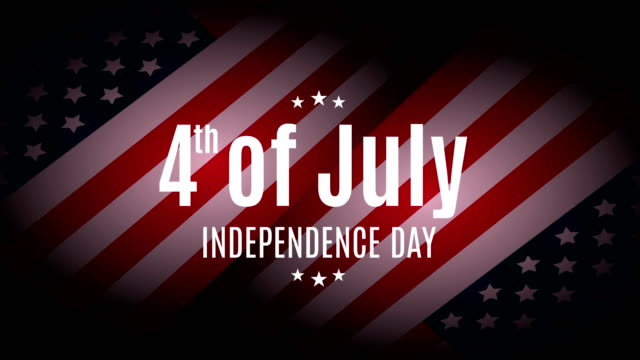 4th of july. independence day. 4k animation. - july stock videos & royalty-free footage