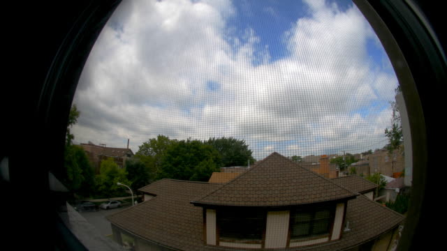 4th of july time lapse out window in Chicago. HD1080p24fps